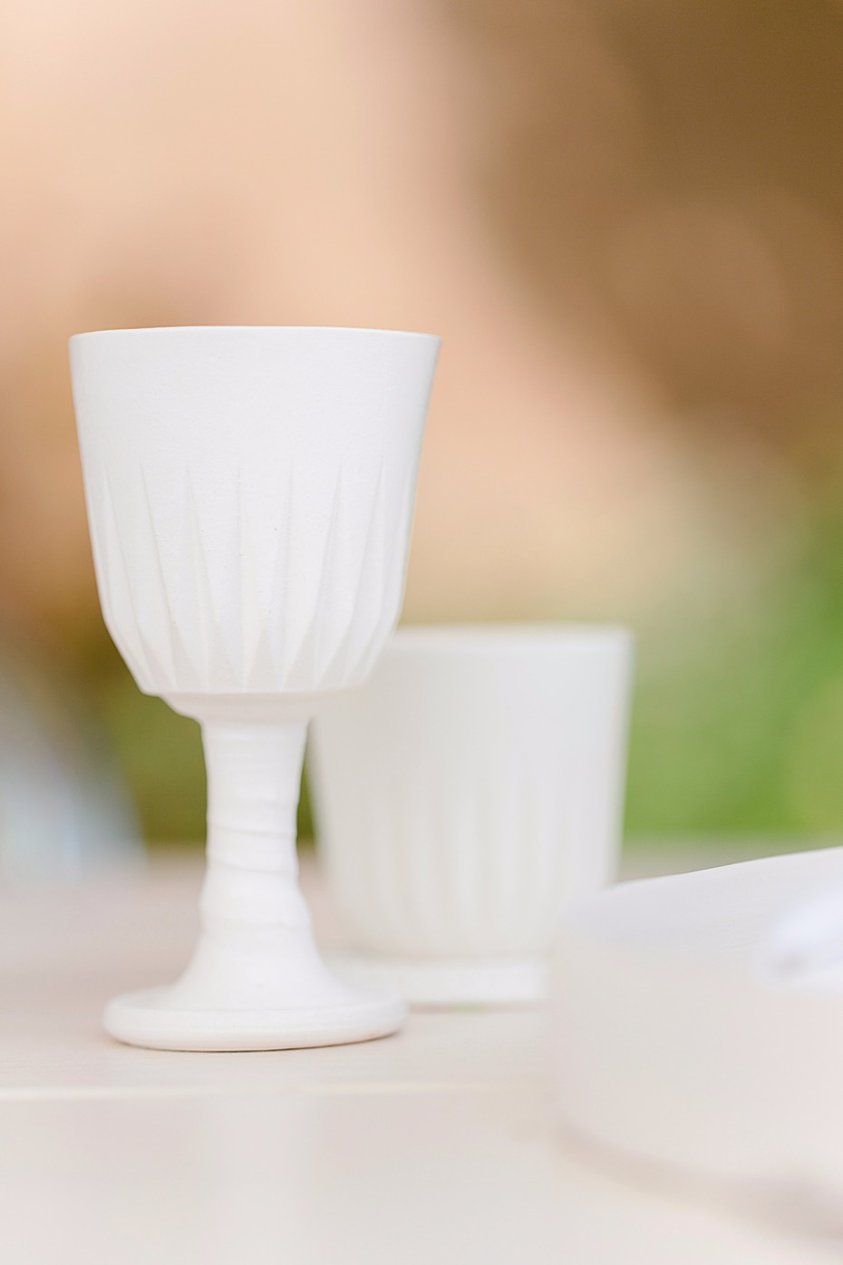 White ceramic dish for a modern tablescape
