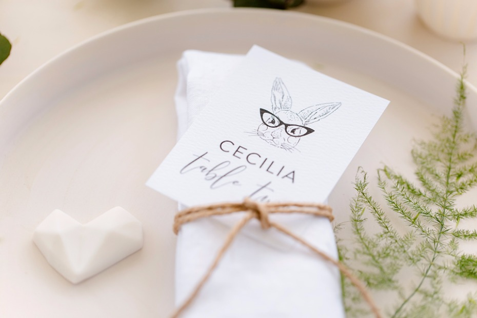 Illustrated place card