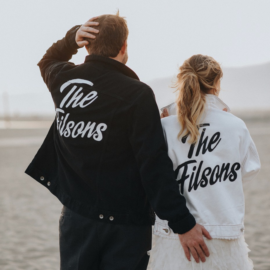 Black and White Wedding Denim Jackets