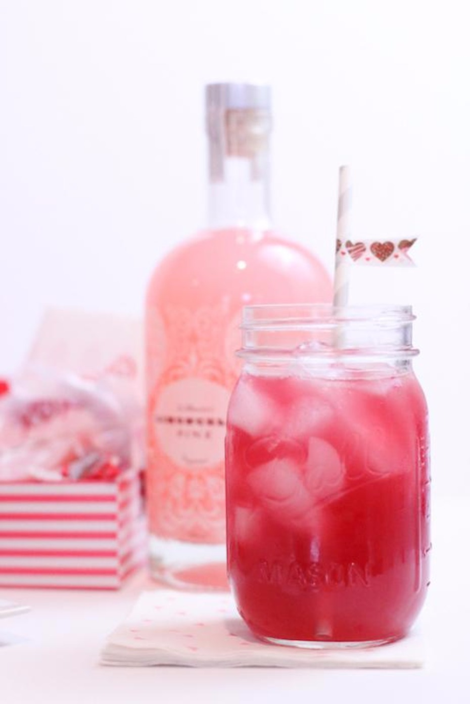 Pink Lemon Liqueur cocktail