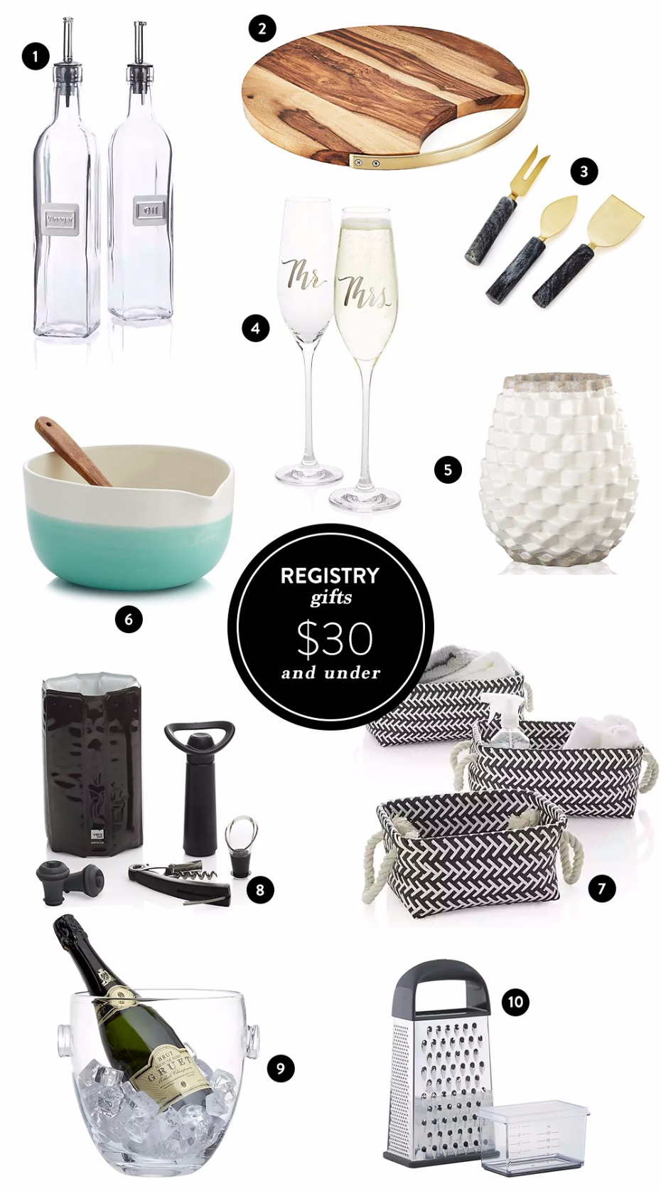 Affordable and special gifts to add to your wedding registry