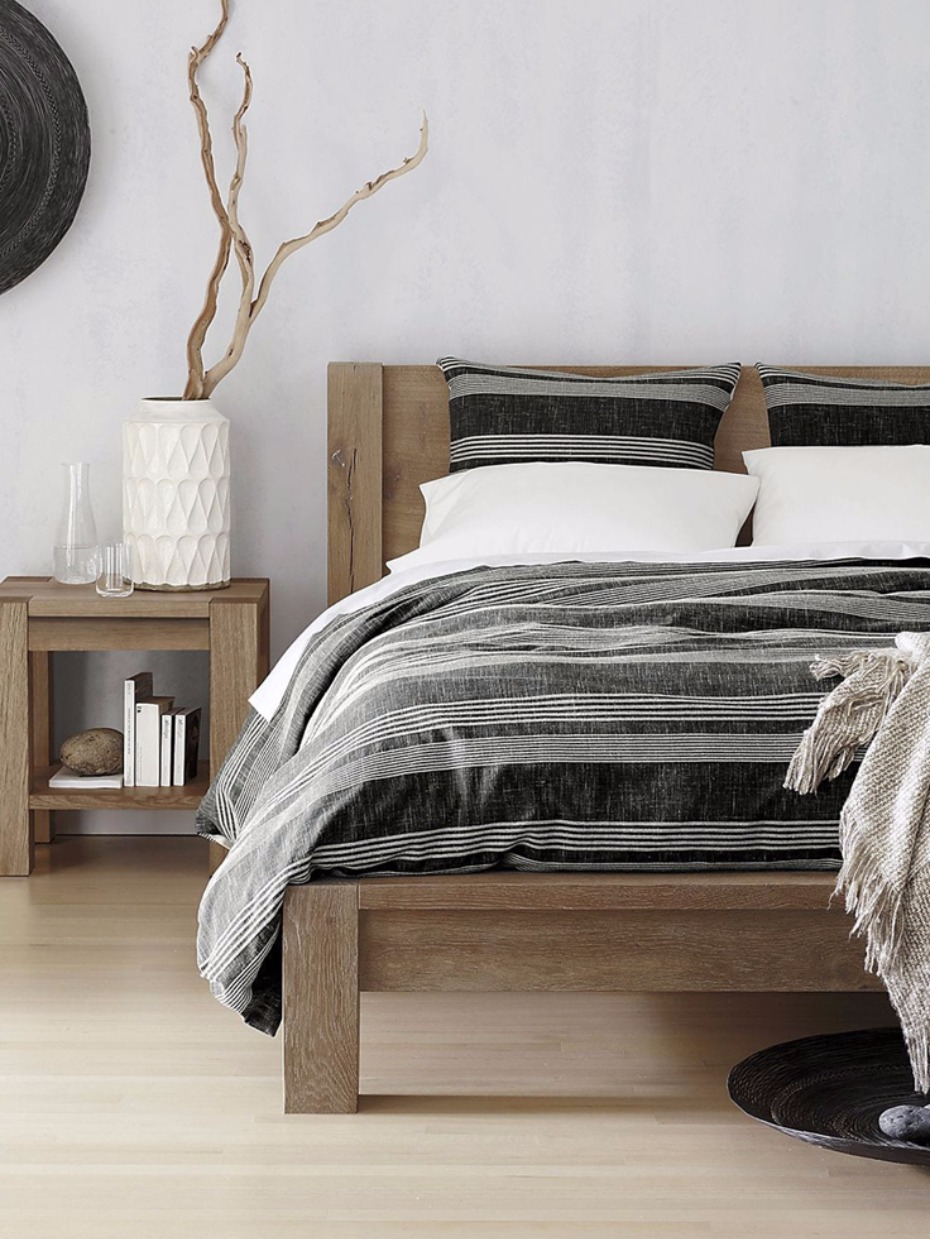 black and white natural bedroom set from @crateandbarrel