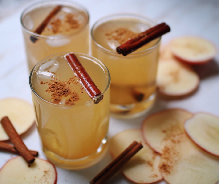 apple cider ginger shrub