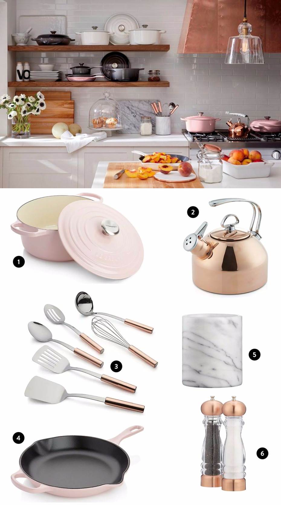 copy this pink and gold kitchen from @cratebarrel