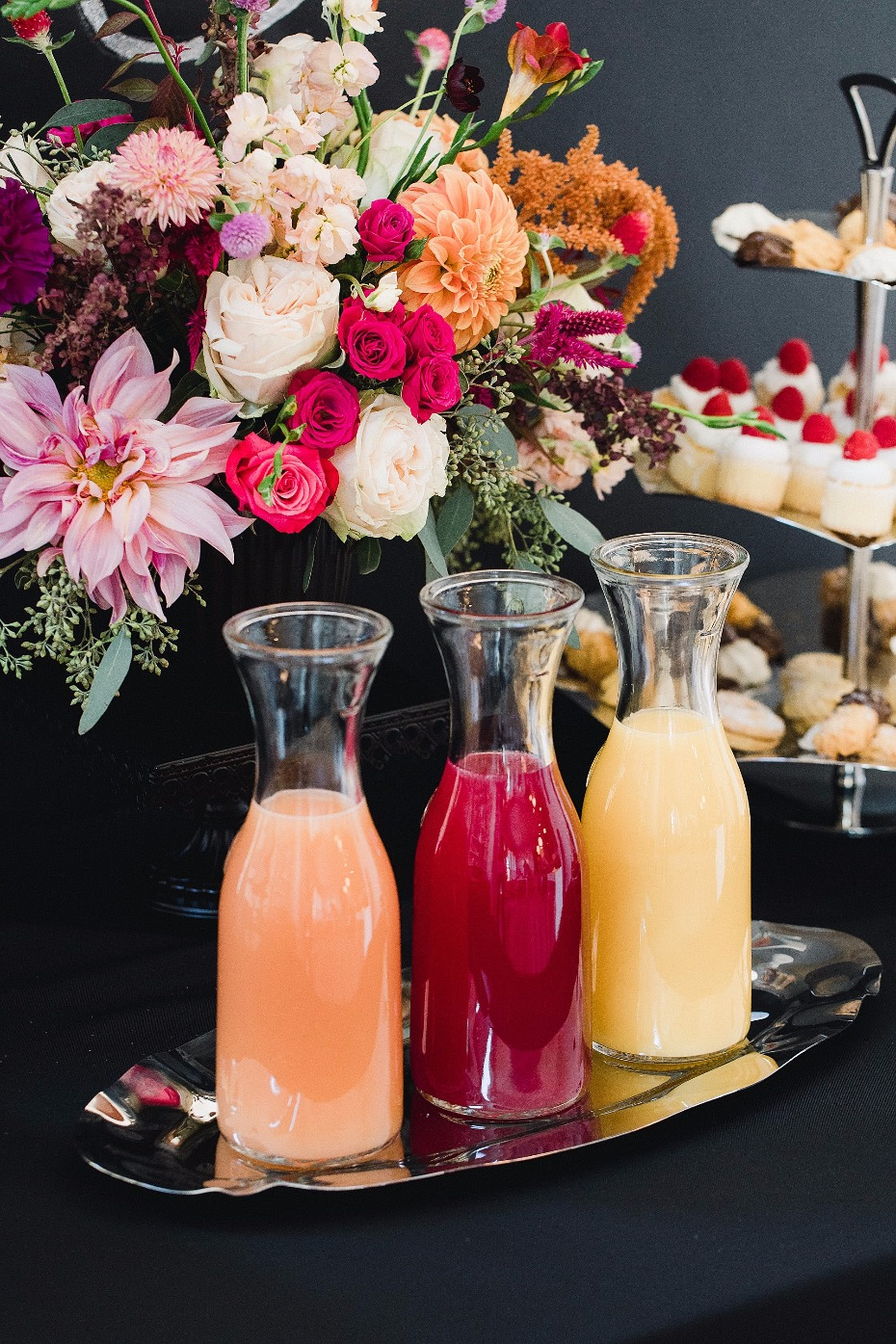 Carafes on a tray