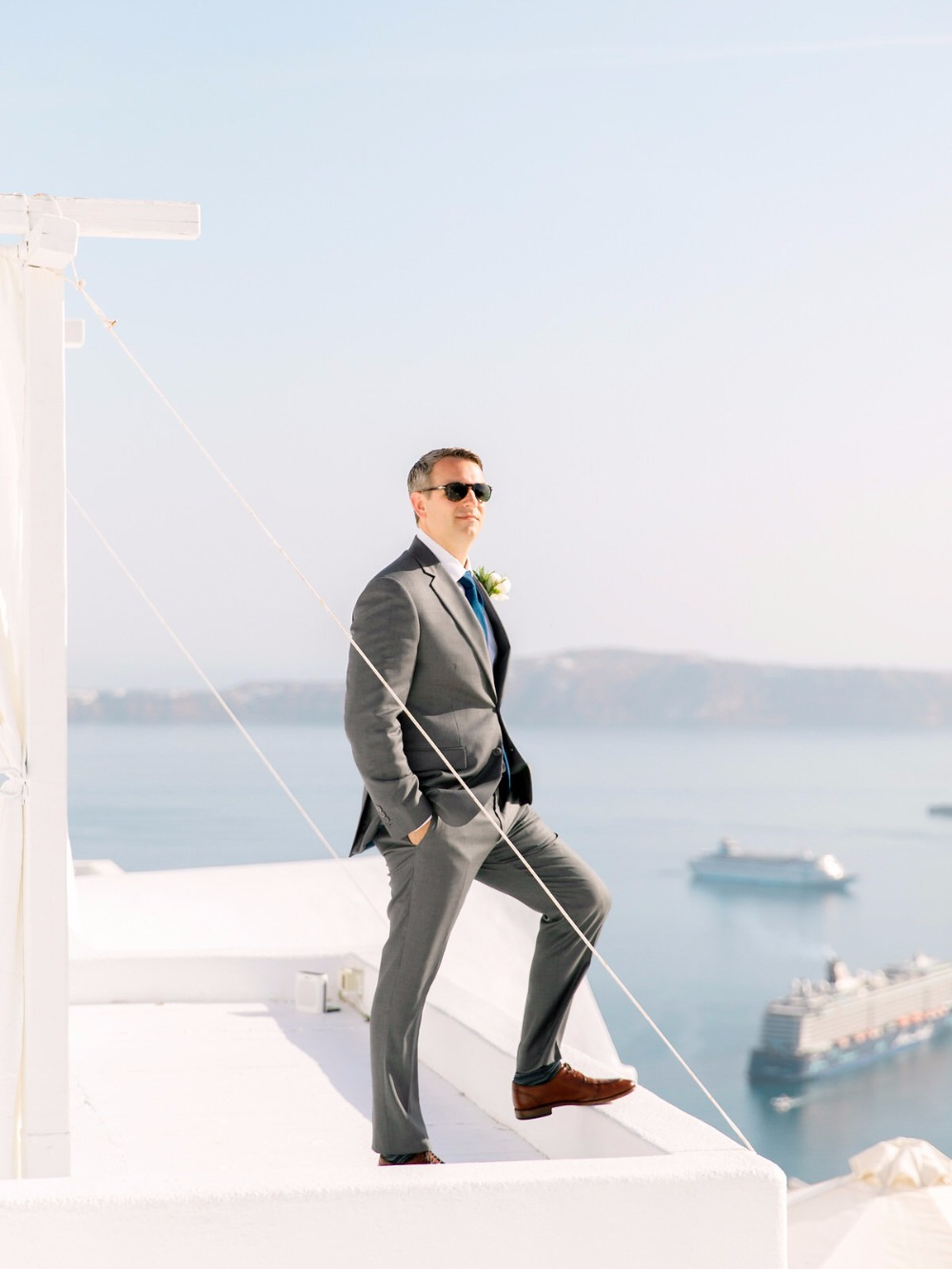 Groom in Santorini