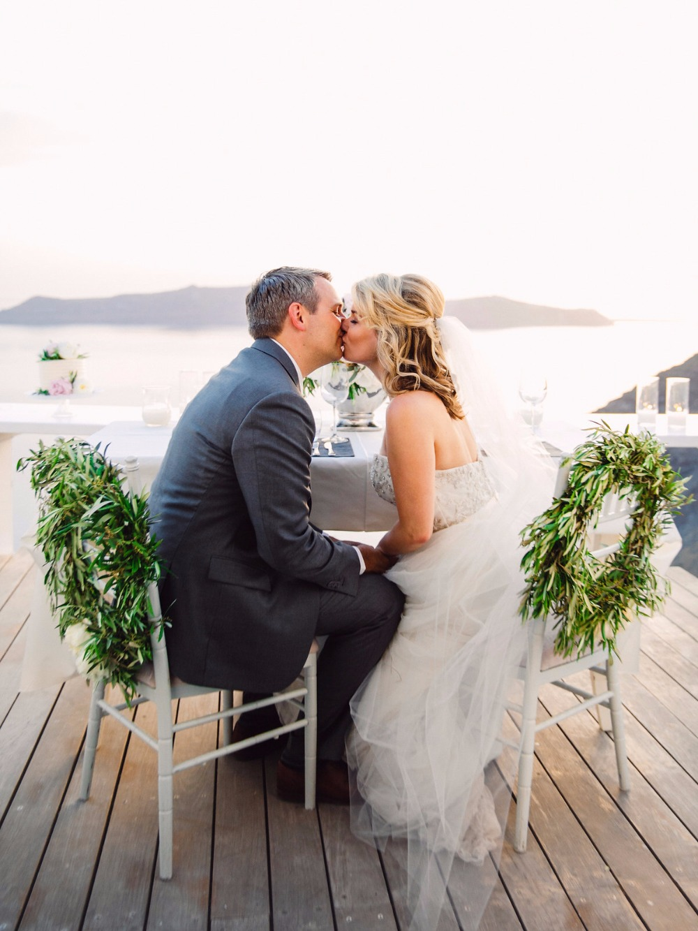 Congrats to these newlyweds in Santorini