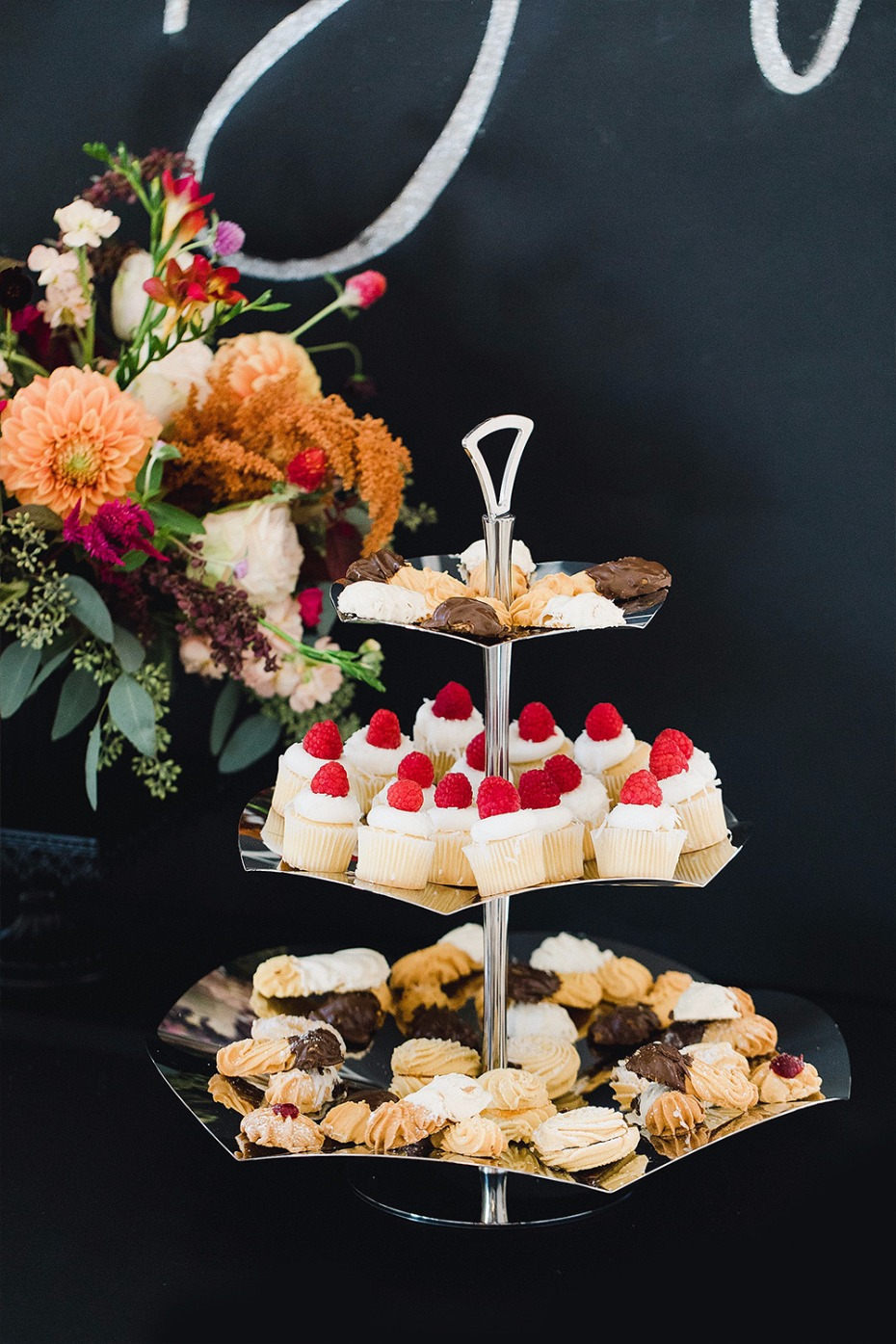 serving tray of sweets