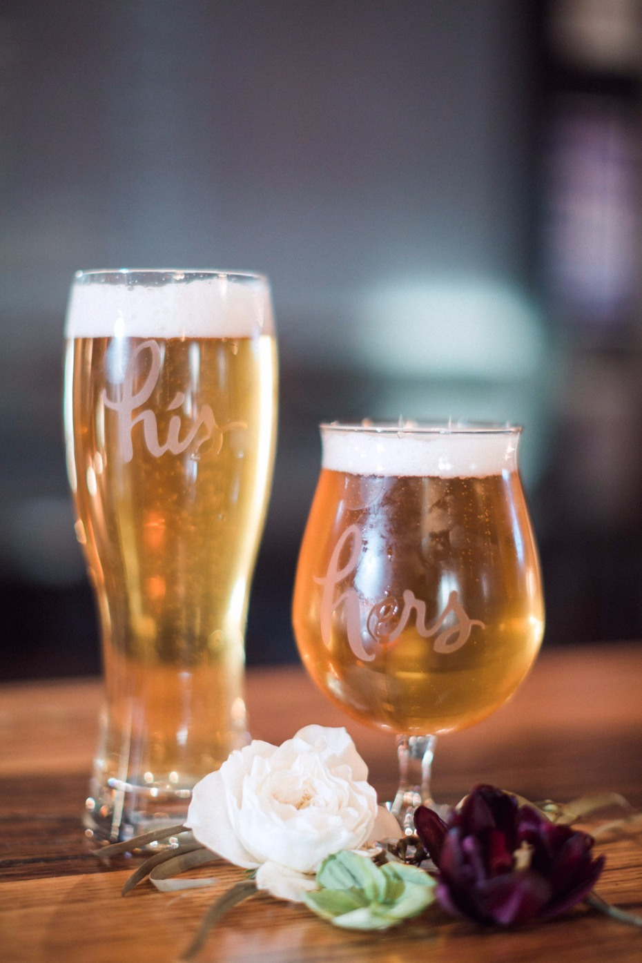 His and hers beer glasses