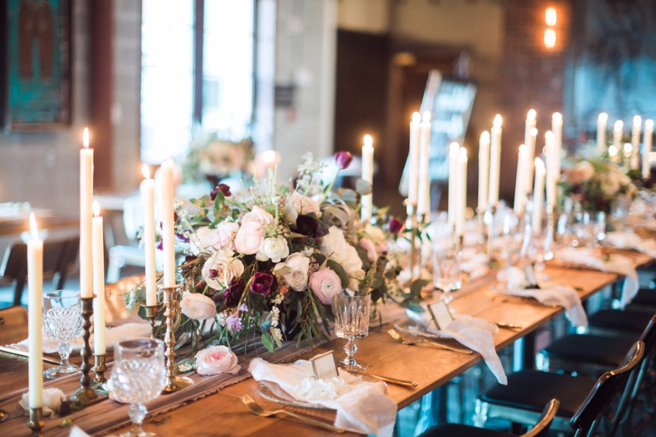Beautiful candle lit tablescape