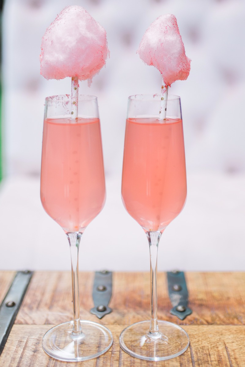 Who doesn't want cotton candy champagne at their wedding?!?