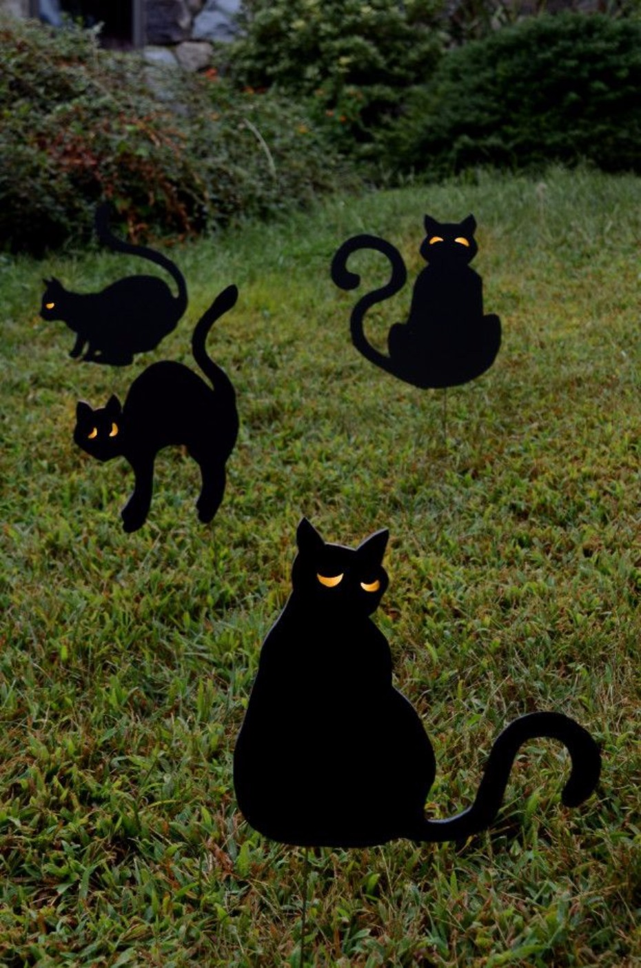 silhouette Cat Yard Stakes