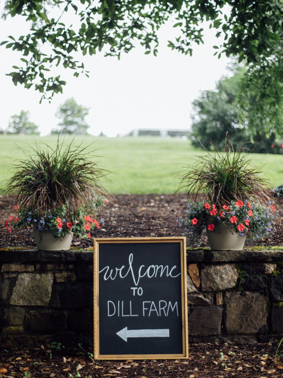 welcome to dill farm wedding sign