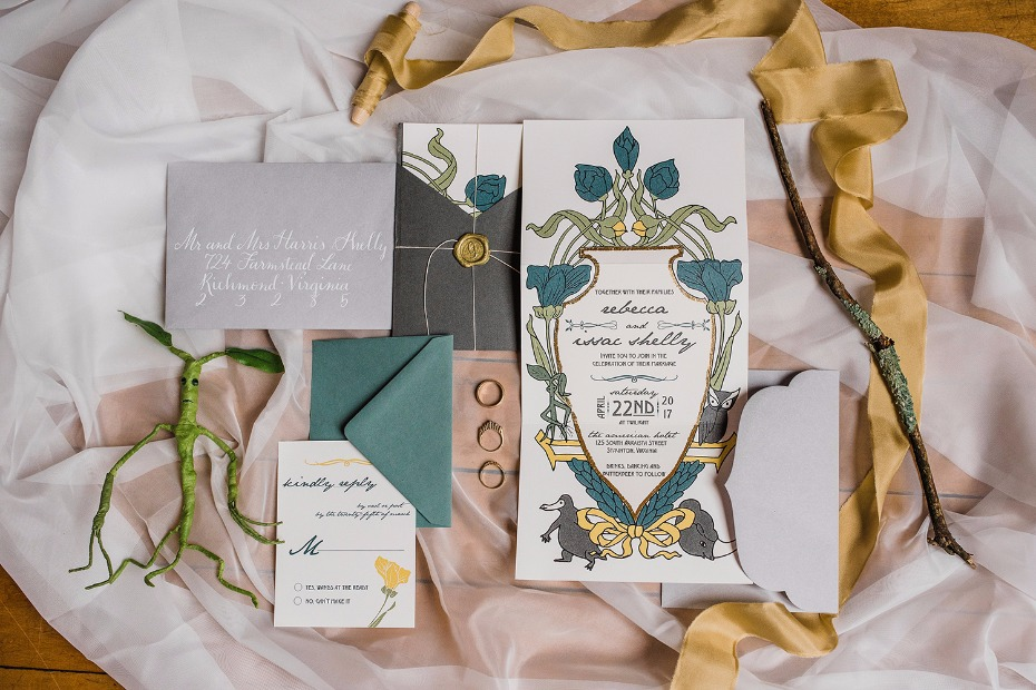 Invitation suite inspired by Fantastic Beasts and Where to Find Them