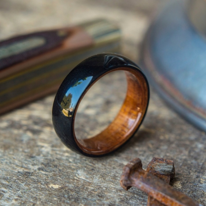 Mens Handcrafted Bentwood Wedding Ring. Every ring is truly unique. Each one is one of a kind.