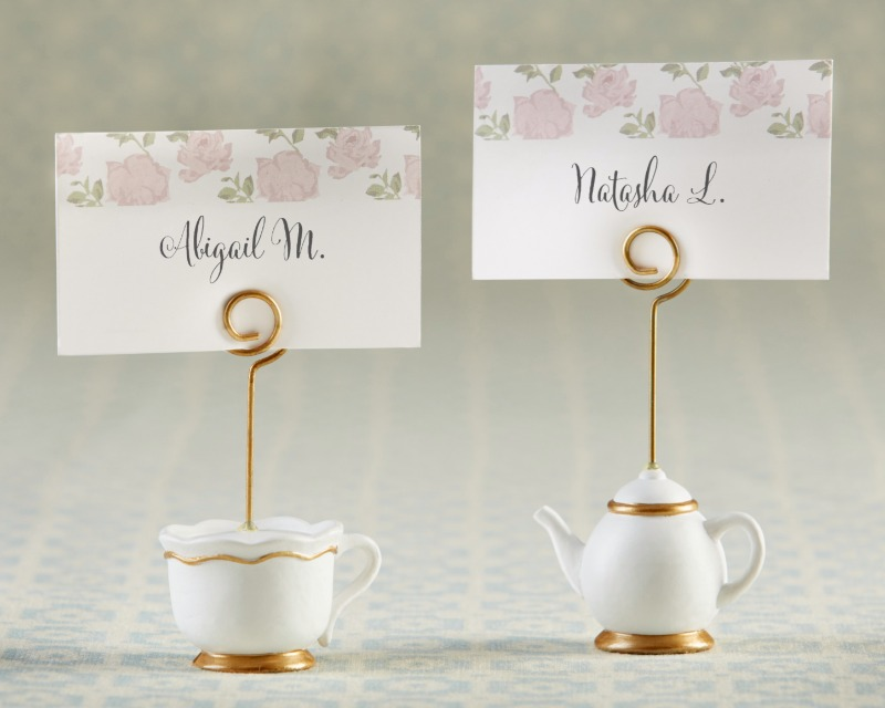 Tea Time Whimsy Place Card Holders help transform your bridal shower, baby shower or wedding into a delightfully sweet tea party.