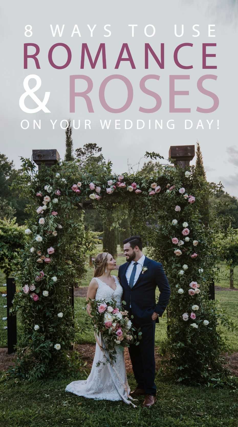 8 ways to use romance roses on your wedding