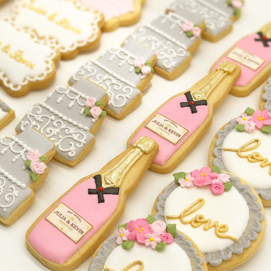 custom wedding sugar cookies