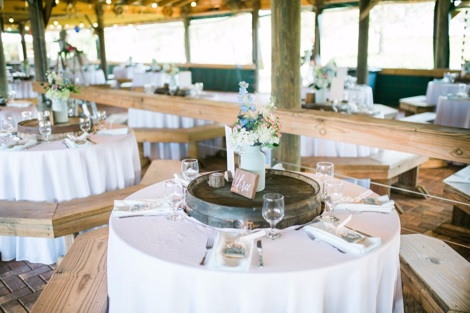 rustic chic round wedding table