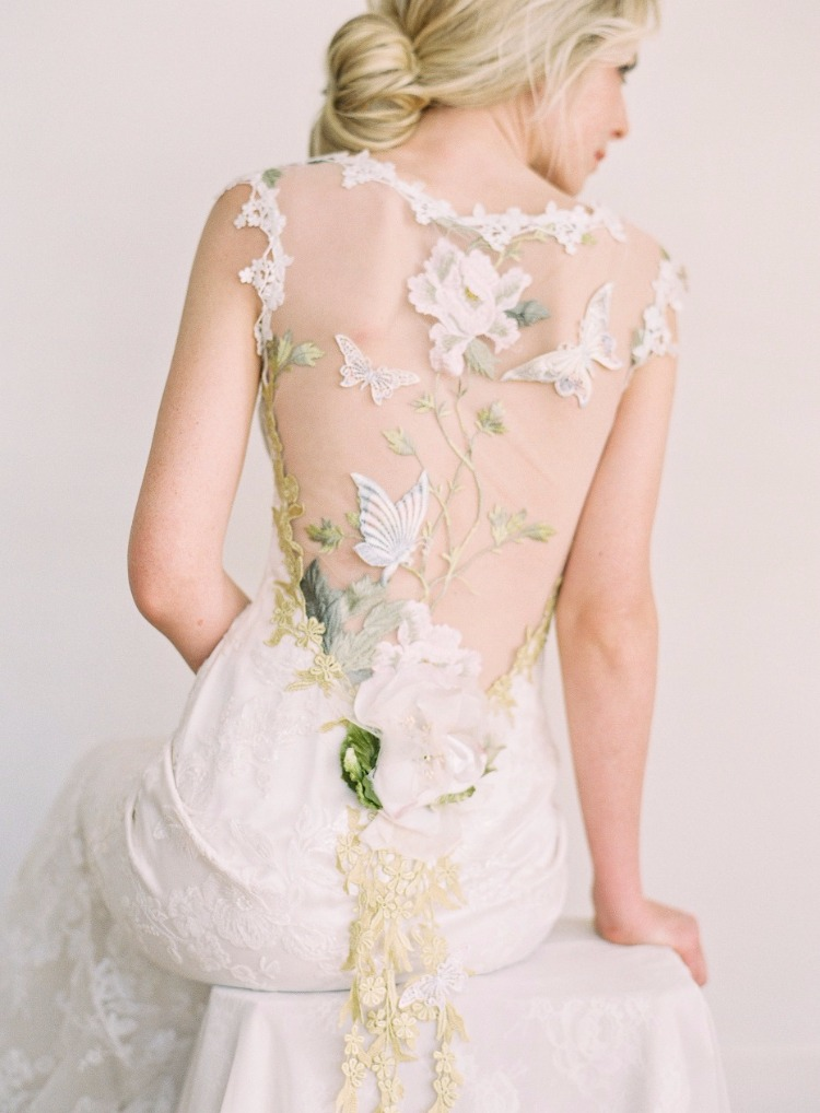 Enchanting gowns inspired by nature from claire pettibone for Nature inspired wedding dresses