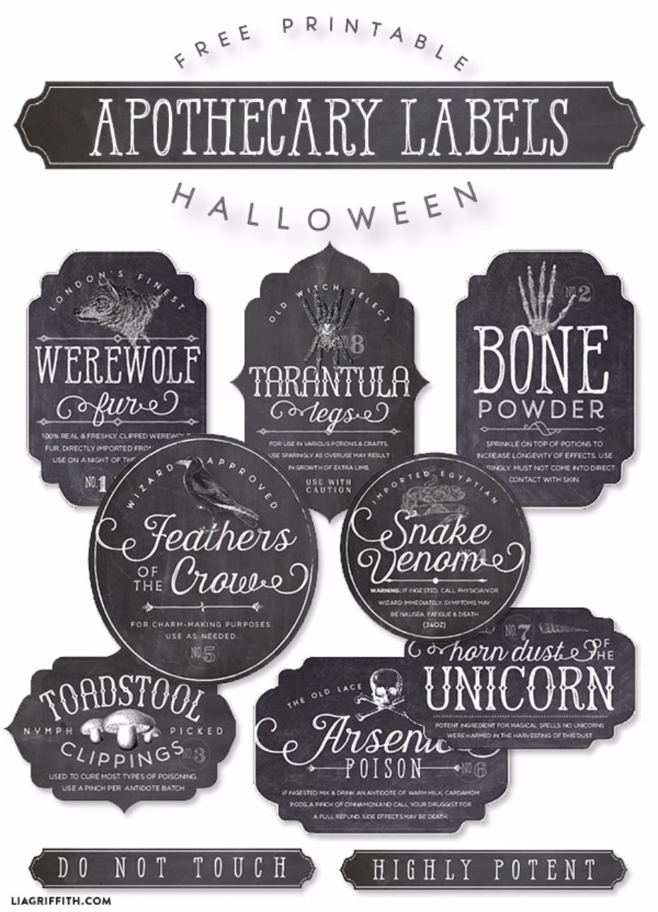 Apothecary printable labels