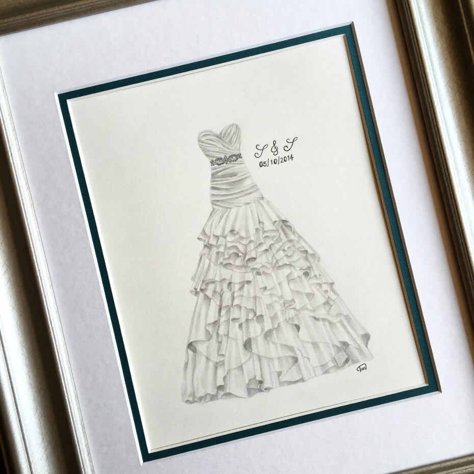 The Brushing Bride turns your dress into a work of art