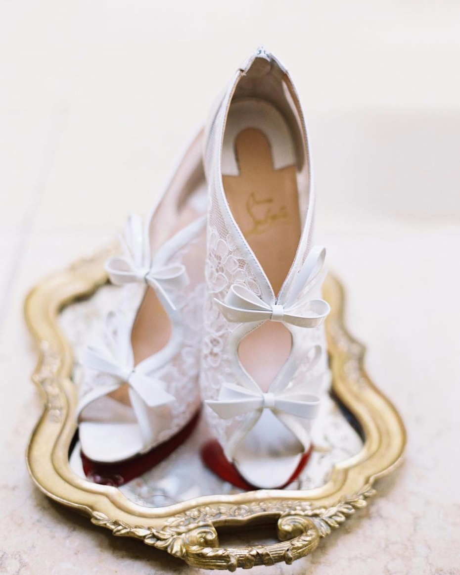 lace wedding heels