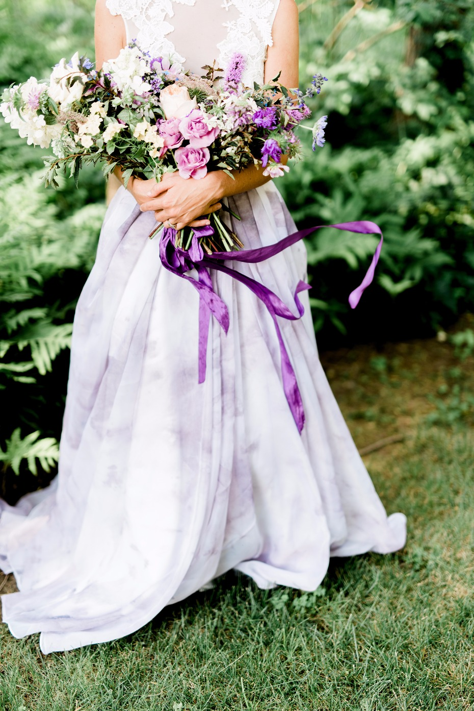 Purple bridal look