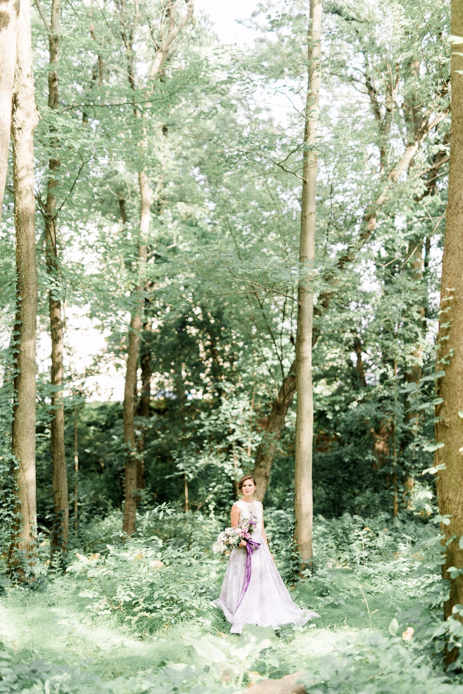 Woodsy bridal portrait