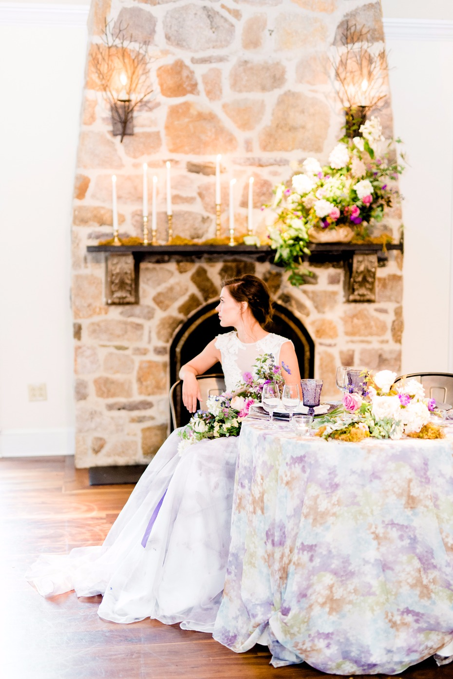 Purple watercolor wedding ideas