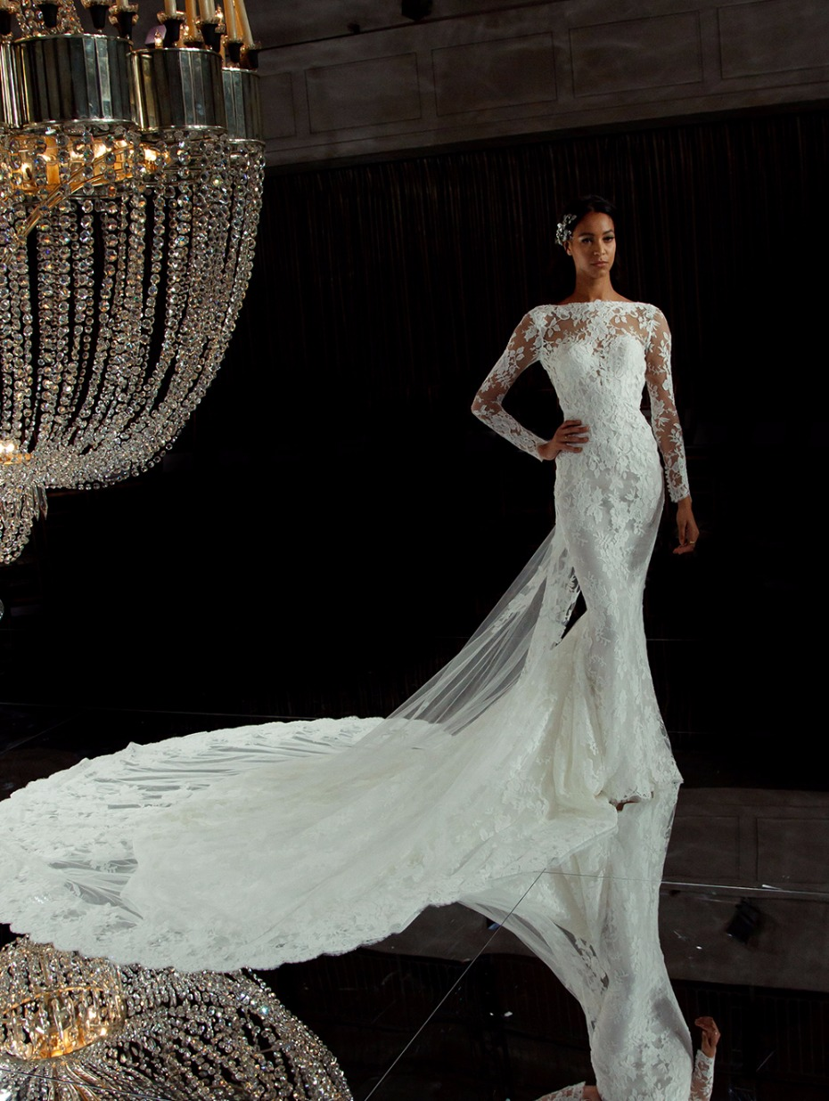 lace wedding gown from Pronovias