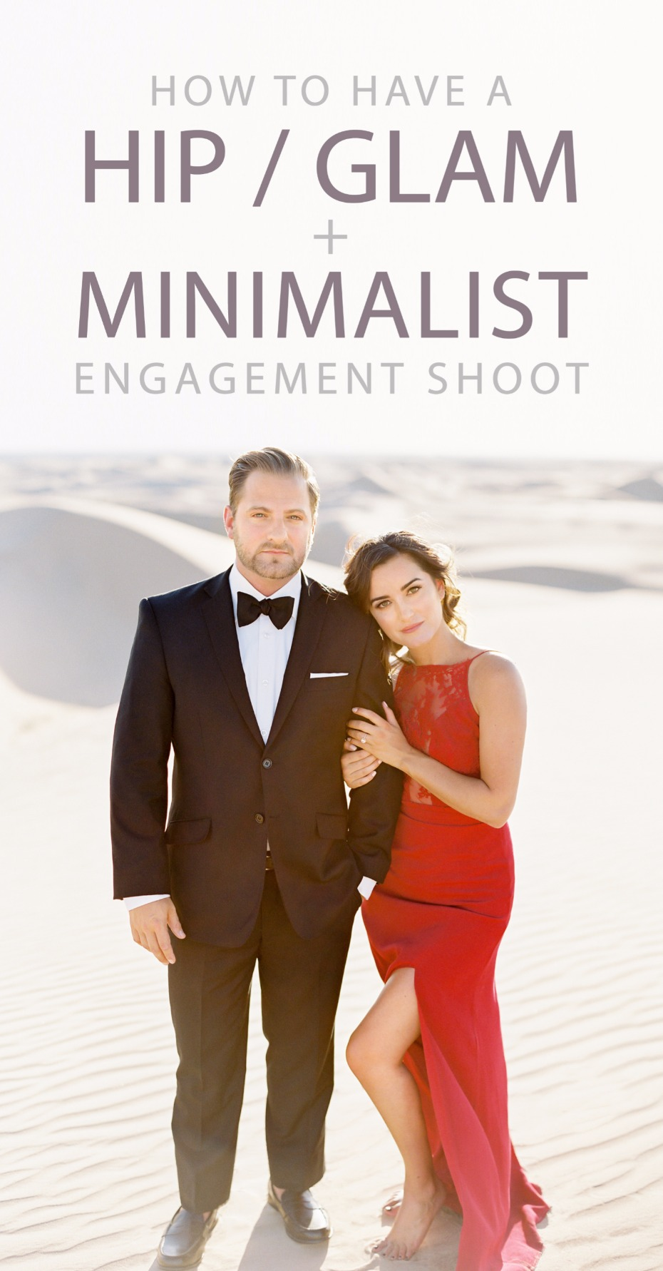 how to have a hip glam minimalist engagement shoot