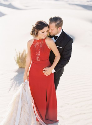 How To Have A Hip / Glam + Minimalist Engagement Shoot