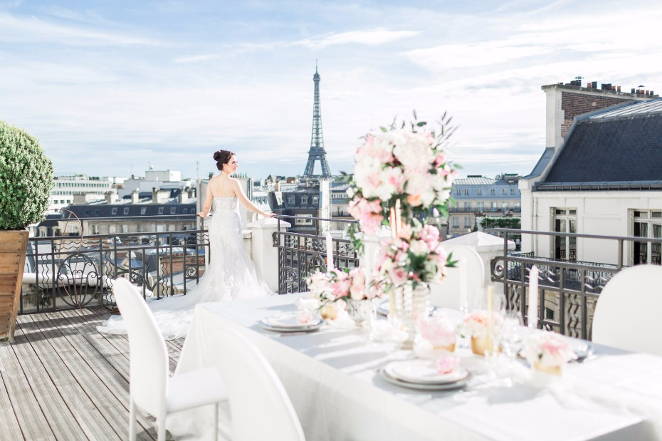 rooftop wedding reception decor ideas for Paris