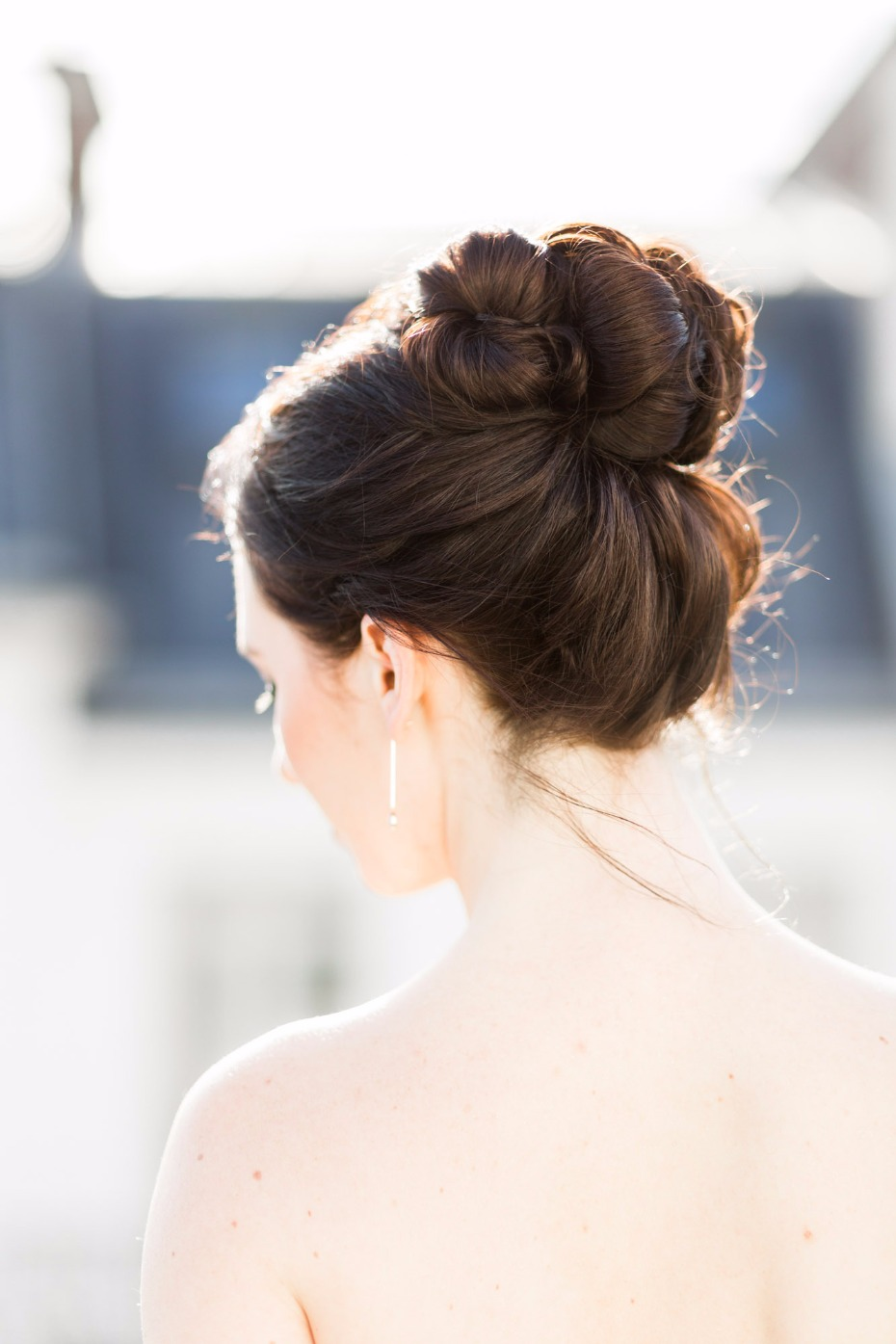 chic topknot wedding hair