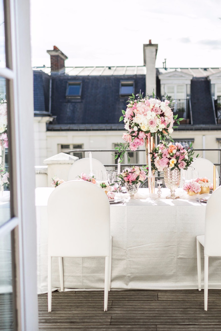 rooftop reception for your wedding in Paris