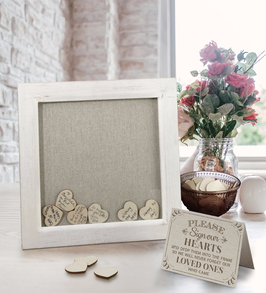 Lillian Rose shadow box frame guest book