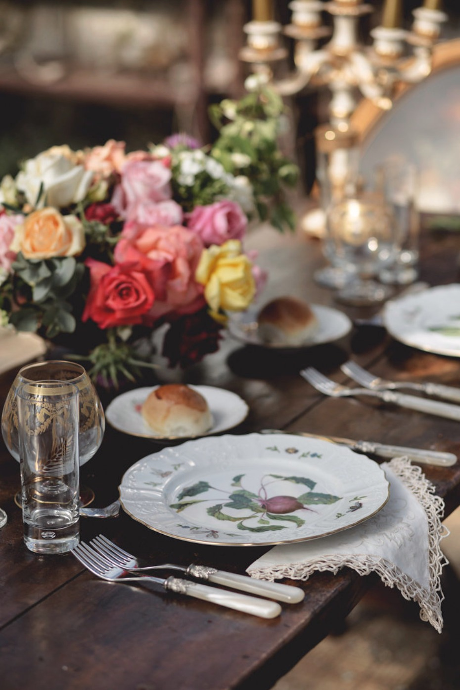 Vintage place settings