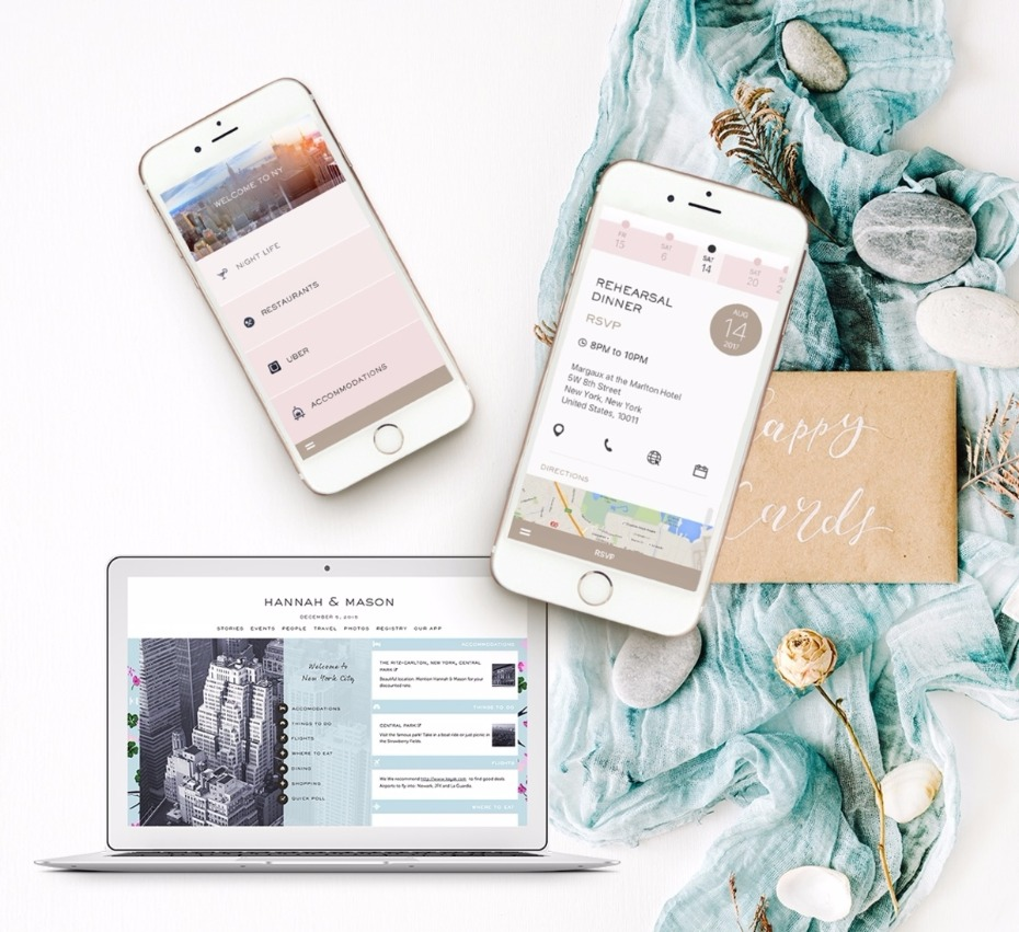 Helpful elements for you and your guests on Appy Couple