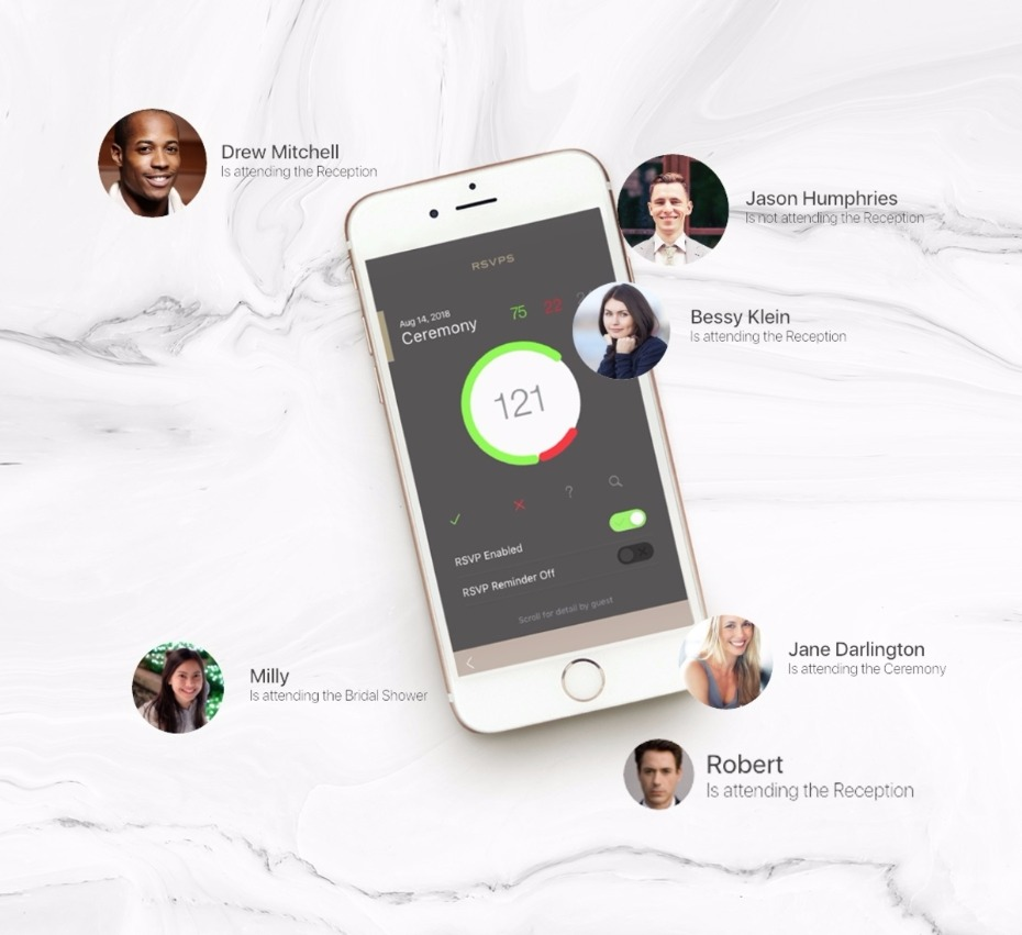 Track your guest list on Appy Couple