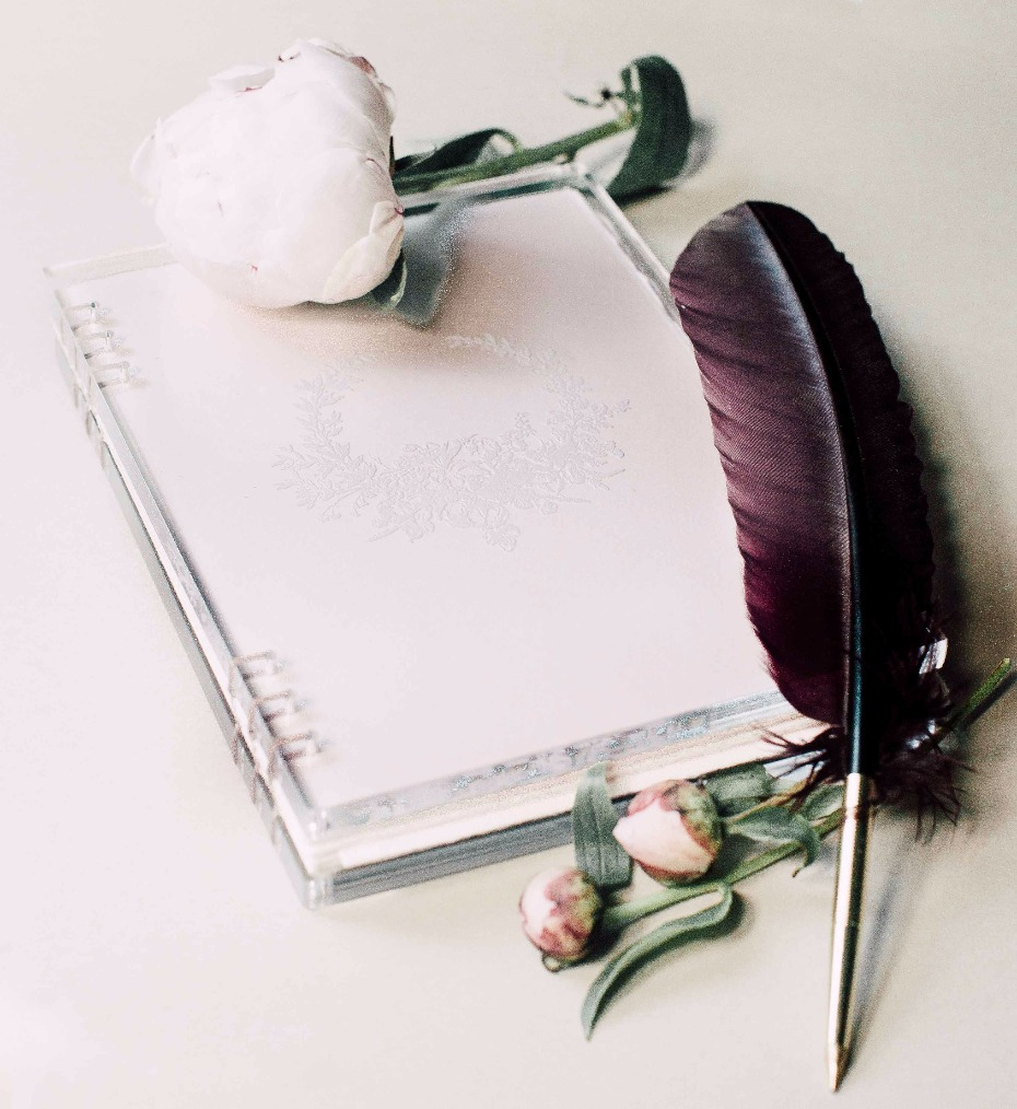 clear covered wedding vow book