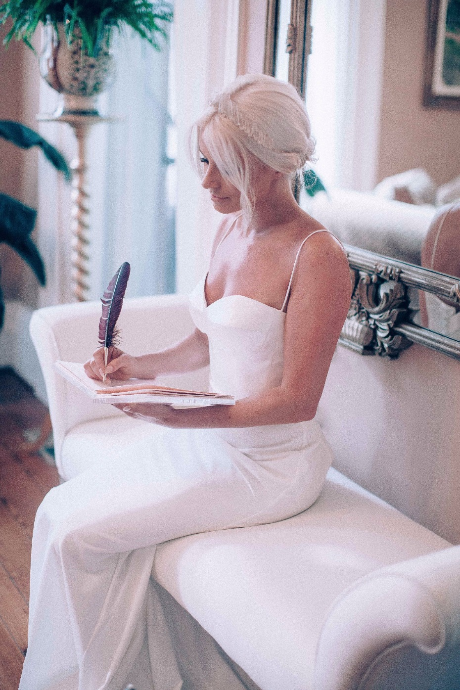 writing her vows