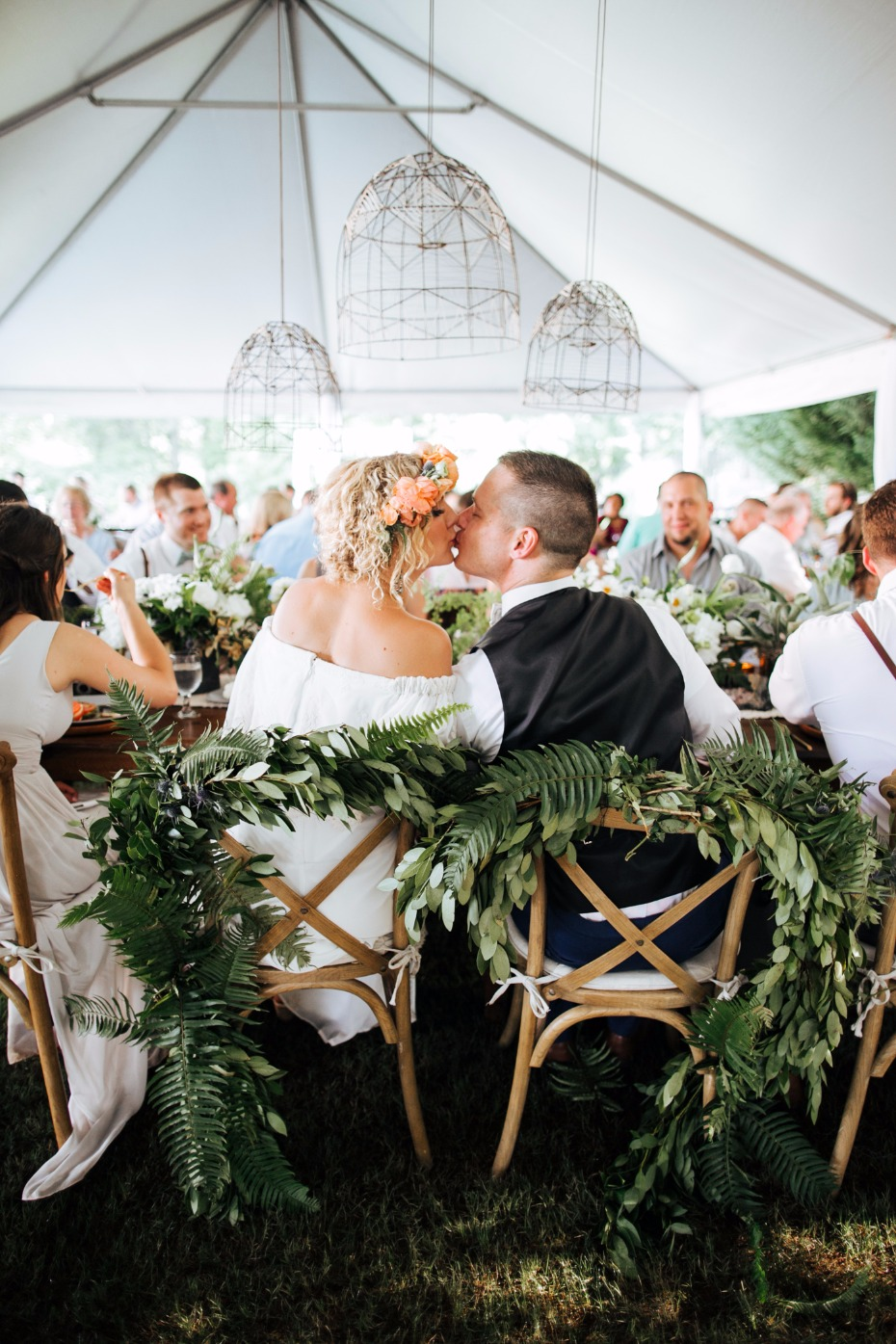 Love this plant filled wedding