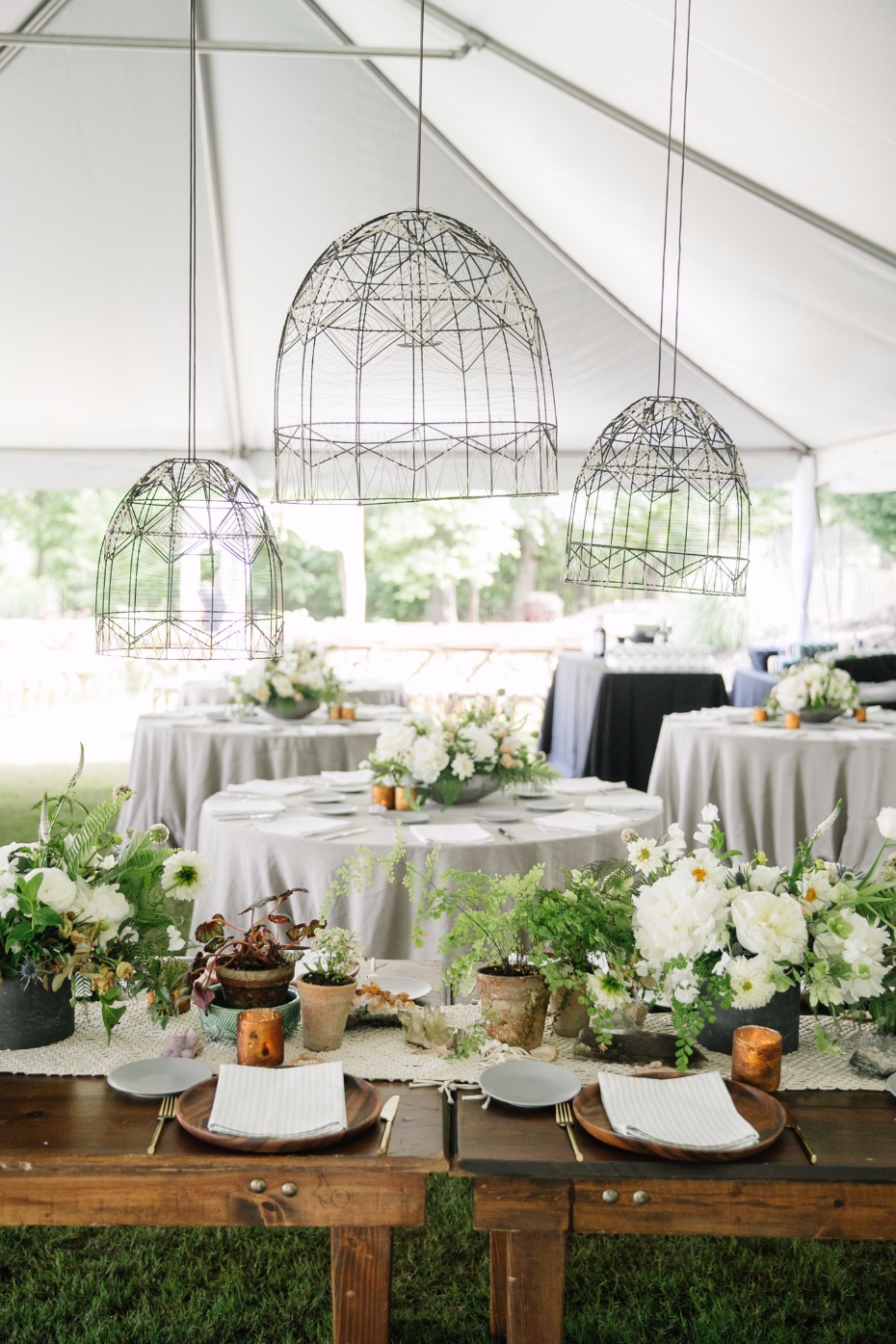 Beautiful boho reception