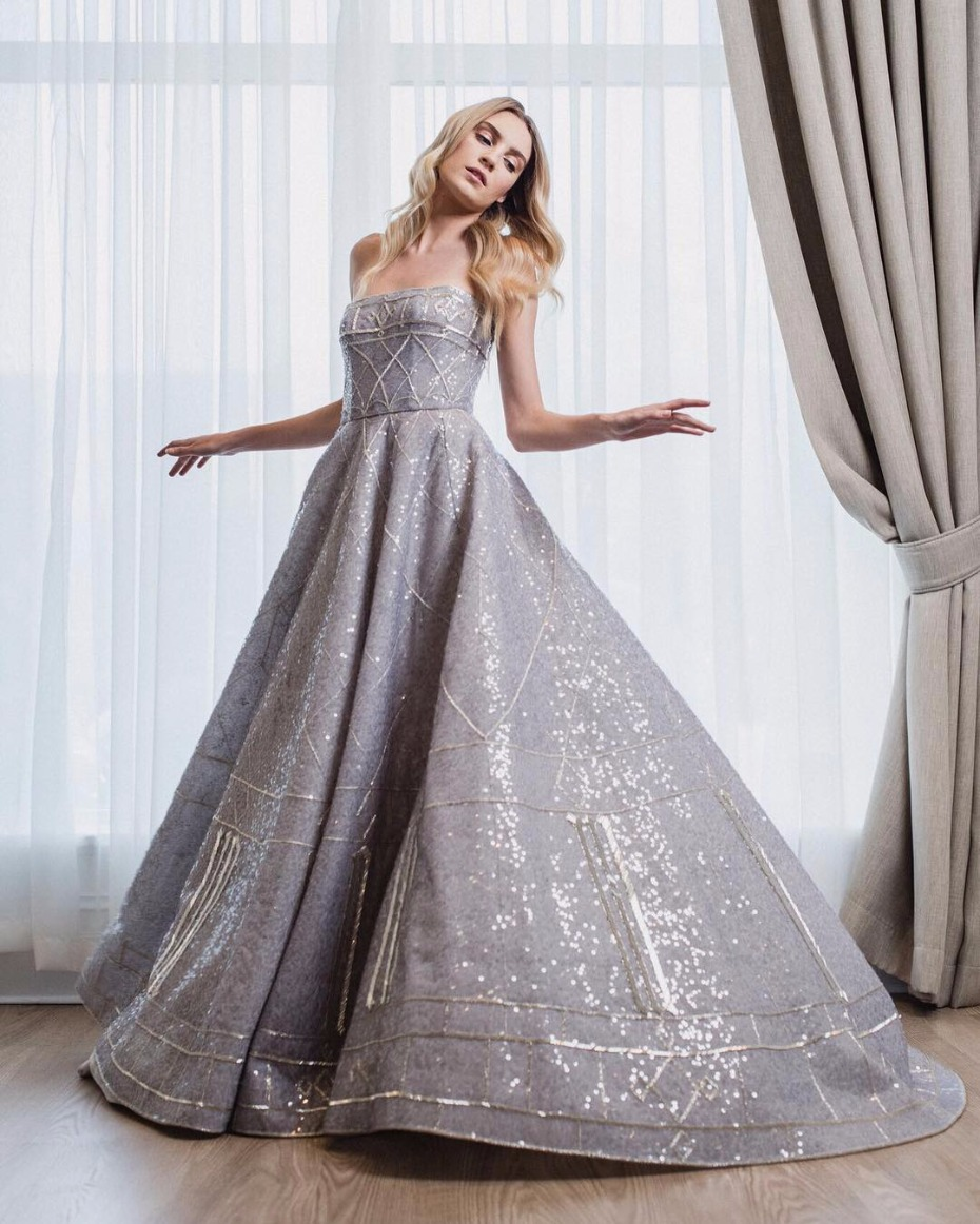 Silver Disney Wedding Dress By Paolo Sebastian