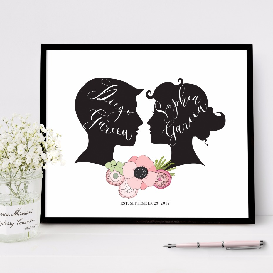 Adorable guest book idea from Flutterbye Prints