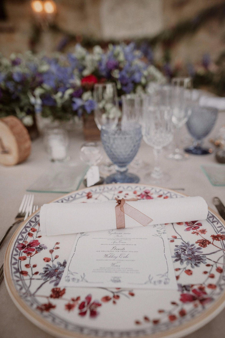 Vintage china for the reception