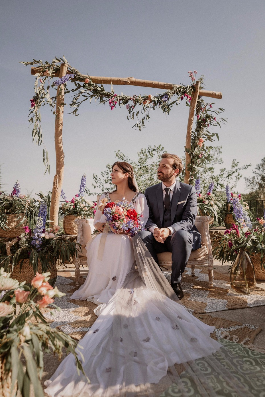Beautiful floral filled ceremony