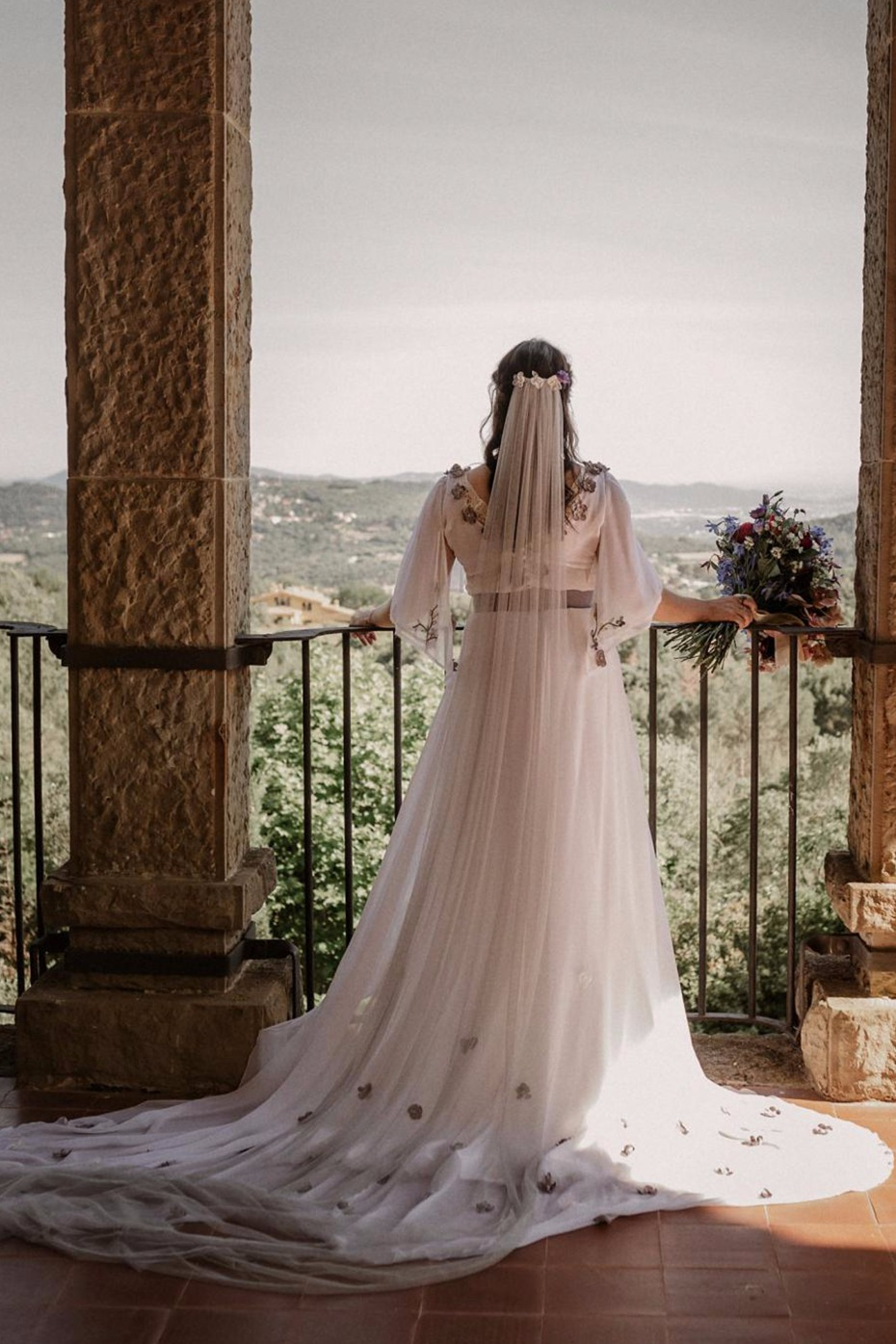 Couture wedding gown from Helena Mareque in Madrid