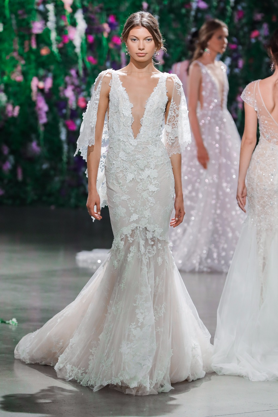 lacey mermaid style GALA Collection No IV Gown